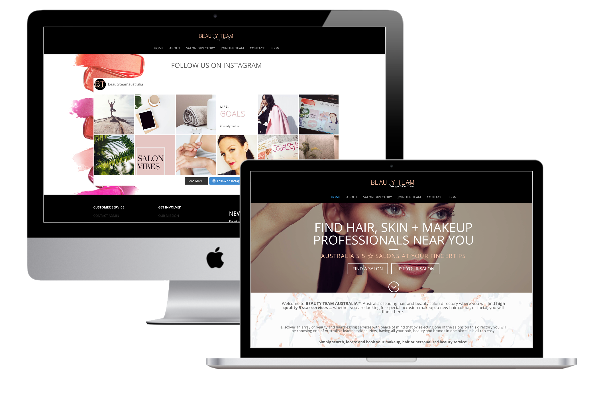Wordpress Website & Online Directory – Beauty Team Australia